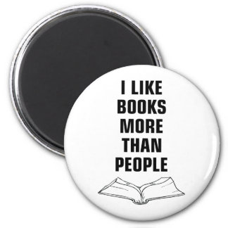 Books More Than People 6 Cm Round Magnet