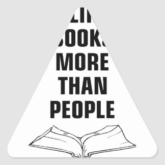 Books More Than People Triangle Sticker