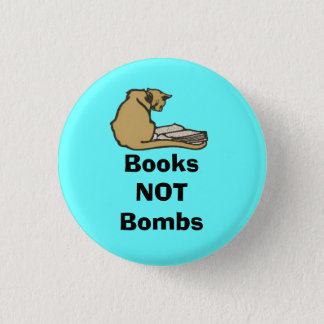 Books Not Bombs Scottish Independence Cat Badge