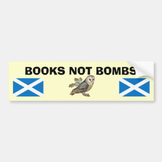 Books Not Bombs Scottish Independence Owl Sticker