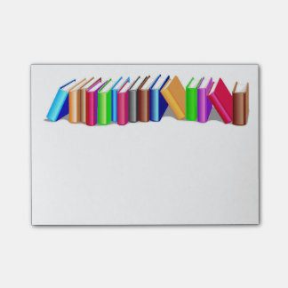 Books post-it notes