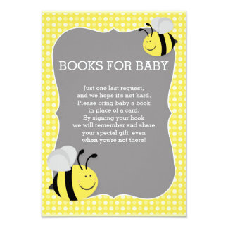 Books Request Mommy to Bee Baby Shower 9 Cm X 13 Cm Invitation Card