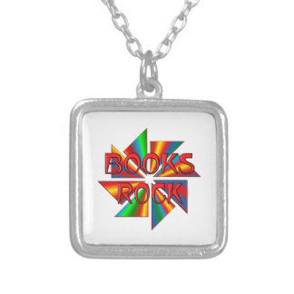 Books Rock Personalized Necklace