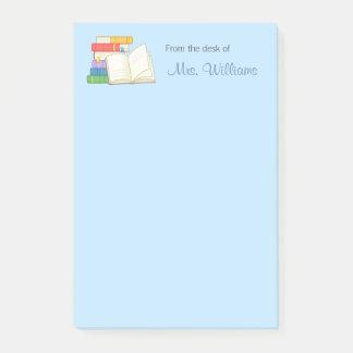 Books Stack Open Book School Teacher Post-it Notes