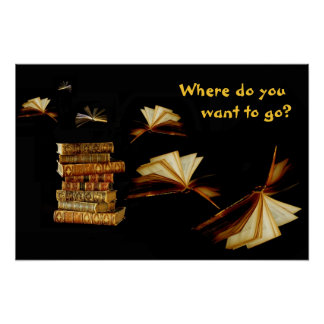 Books take you places poster