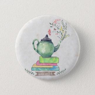 Books & Tea button