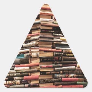 Books Triangle Sticker