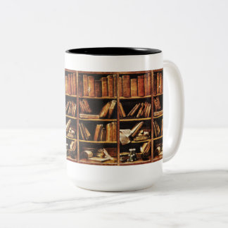 Books Two-Tone Coffee Mug