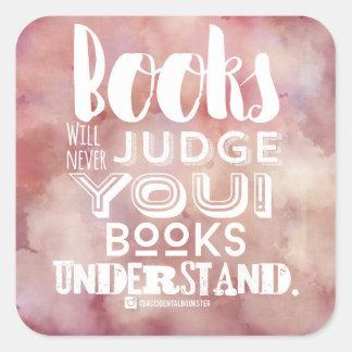 Books Understand Sticker (pink and white)