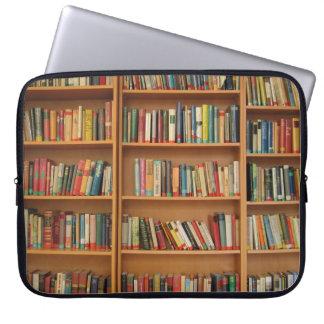 Bookshelf background laptop sleeve