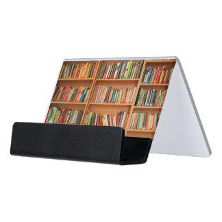 Bookshelf Books Library Bookworm Reading Desk Business Card Holder