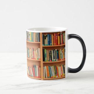 Bookshelf Books Library Bookworm Reading Magic Mug