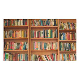 Bookshelf Books Library Bookworm Reading Name Tag