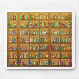 bookshelf pattern mouse pad