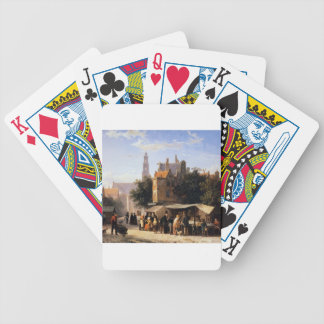 Bookstall on the Noordermarket by Cornelis Springe Bicycle Playing Cards