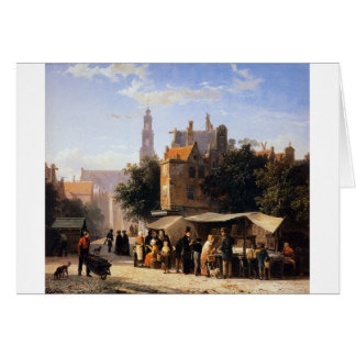 Bookstall on the Noordermarket by Cornelis Springe Greeting Card