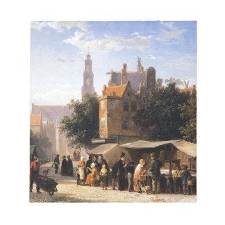 Bookstall on the Noordermarket by Cornelis Springe Memo Notepad