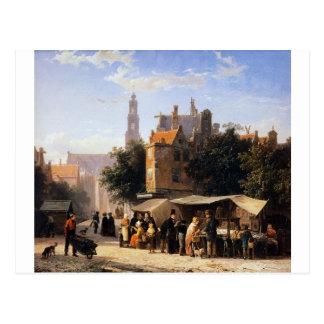 Bookstall on the Noordermarket by Cornelis Springe Postcard