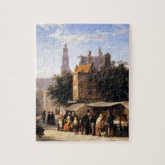 Bookstall on the Noordermarket by Cornelis Springe Puzzle