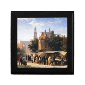 Bookstall on the Noordermarket by Cornelis Springe Small Square Gift Box