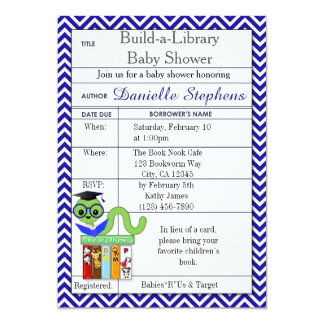 Bookworm Baby Shower Invitations Boy