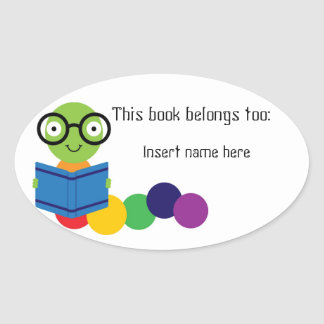 "Bookworm ""belong to"" sticker"
