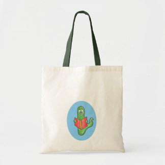 Bookworm book tote bag