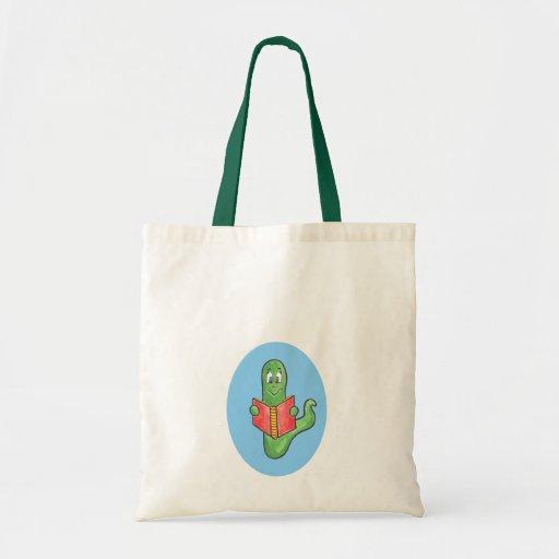 Bookworm book tote bag