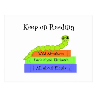 Bookworm - Keep on Reading Postcard