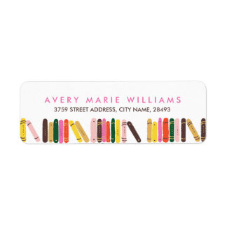 Bookworm Return Address Label