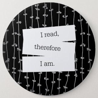 Bookworm's motto button