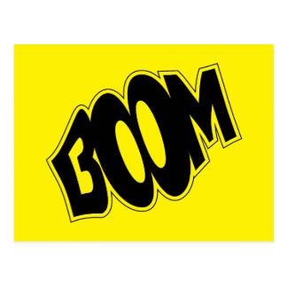 boom-147866 BOOM EXPLOSIONS COMIC FONT SHOUT EXPRE Postcard