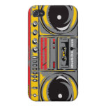 Boom Box EYEPhone 4 Case GREY Covers For iPhone 4