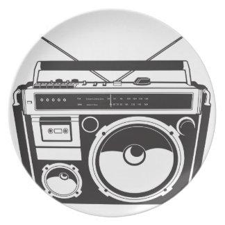 ☞ boom box Oldschool/cartridge player Plate