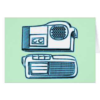 Boom Boxes Old School Technology Card