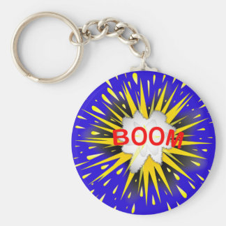 Boom Cartoon Bubble Key Ring