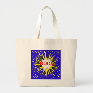 Boom Cartoon Bubble Large Tote Bag