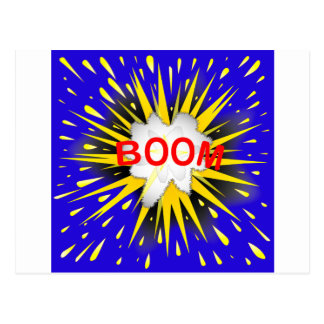 Boom Cartoon Bubble Postcard