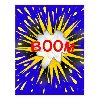 Boom Cartoon Bubble Postcard