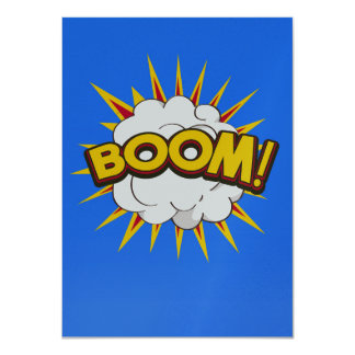 Boom! Cartoon Explosion Card