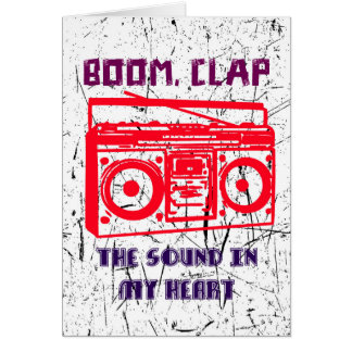 Boom, clap - the sound in my heart card