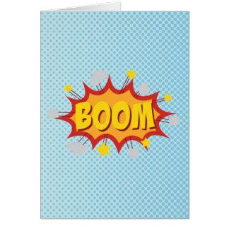 BOOM comic book sound effect Card