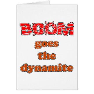 Boom Goes the Dynamite Card