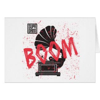 Boom Gramophone White Card