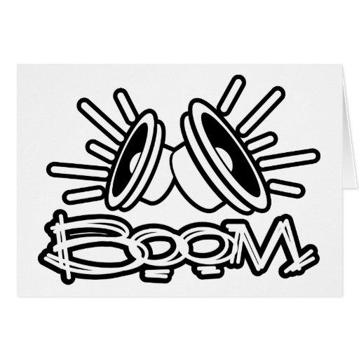 BOOM - Music Boombox Pop Fashion Card