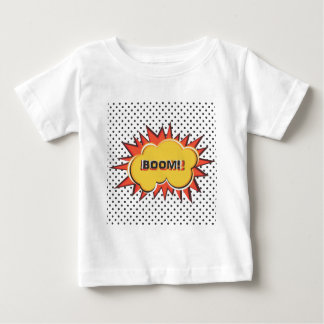 Boom Pop Art Comic Book explosion cartoon Baby T-Shirt
