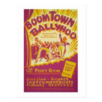 Boom Town Balyhoo Postcard
