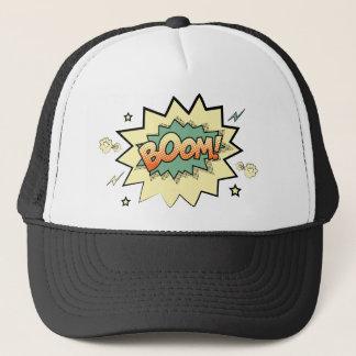 boom trucker hat