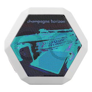 Boombot Rex bluetooth speaker w/turntable art White Boombot Rex Bluetooth Speaker