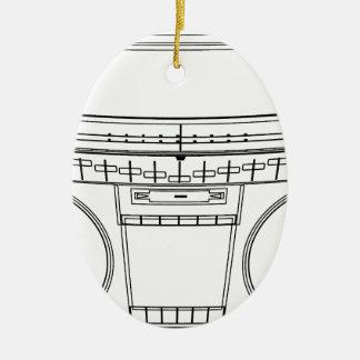 boombox ceramic oval decoration